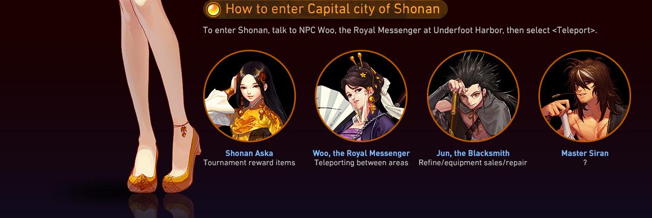 How to enter Capital city of Shonan