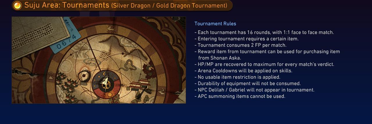 Suju Area: Tournaments (Silver Dragon / Gold Dragon Tournament)