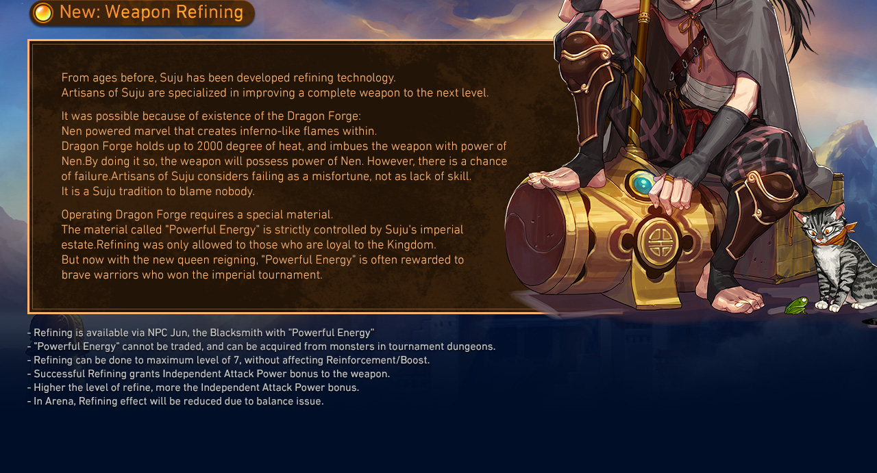New: Weapon Refining