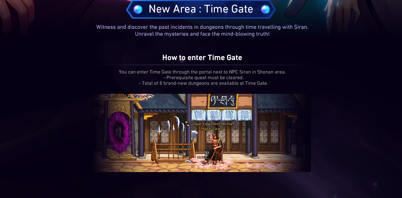 New Area : Time Gate