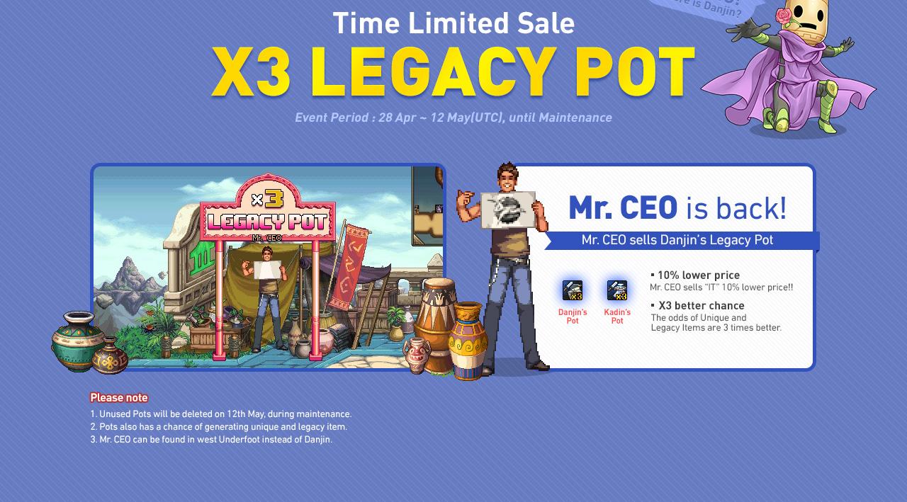 Time Limited Sale x3 Legacy Pot