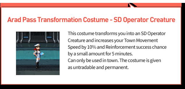 Arad Pass Transformation Costume Layer