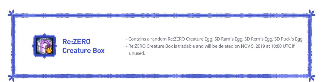 Re:ZERO Creature Box
