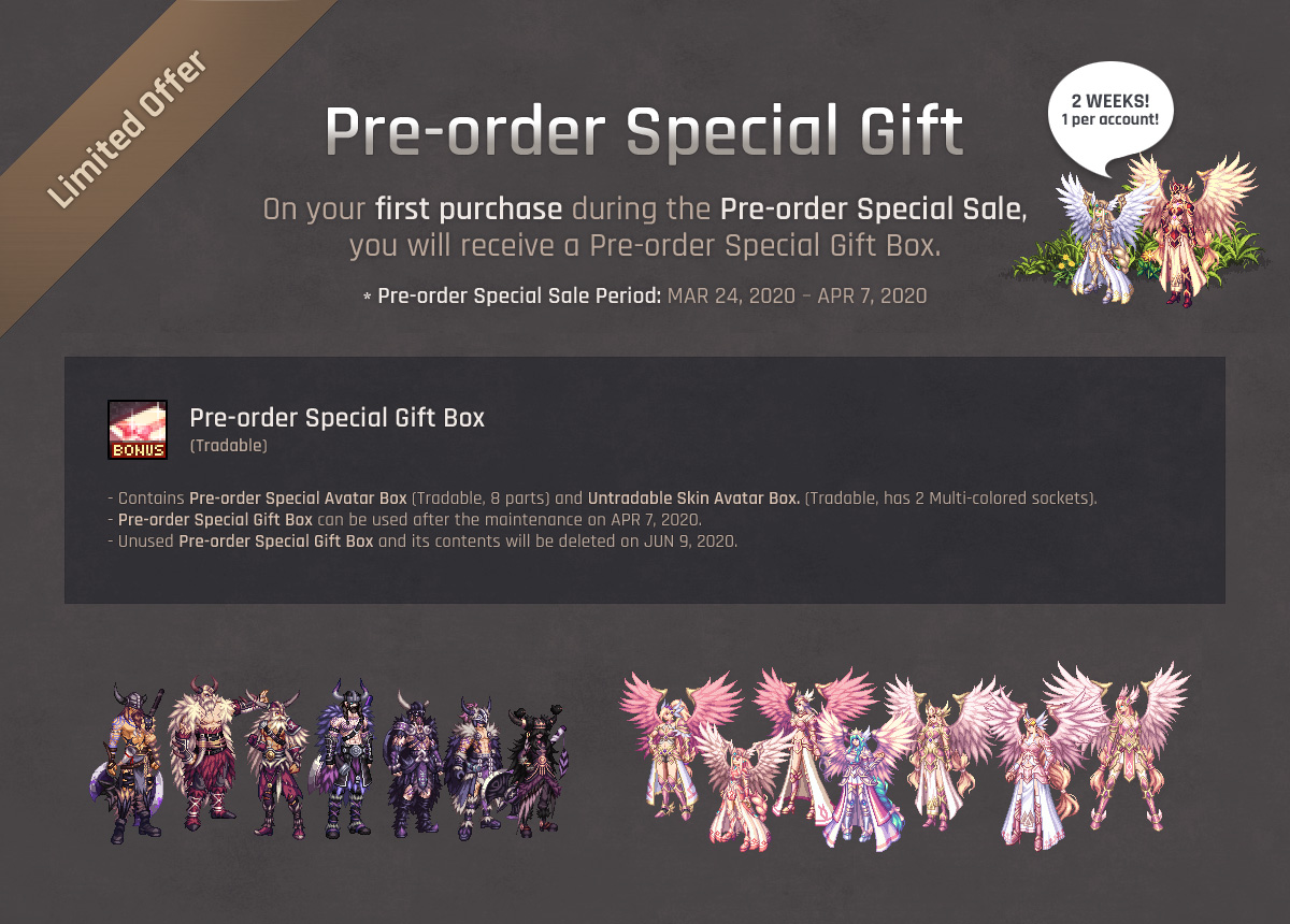 Pre-order Special Gift(Pre-order Special Gift Box) / Pre-order Special Sale Period: MAR 24, 2020 – APR 7, 2020