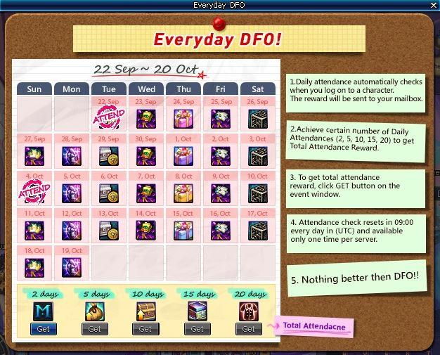 everyday dfo dungeon fighter online
